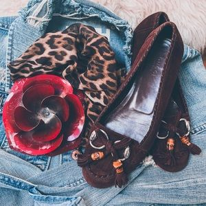 Gucci Dark Brown Flats